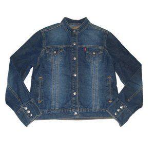 Levis Denim Jacket Easy Rider Blue Jean Snap Up